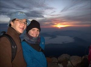 Sunrise Atop Mt. Fuji
