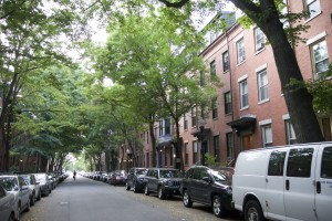 Row of brownstones on Jen and Marc's street